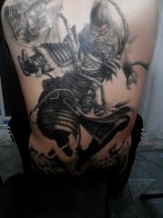 男士好看的滿背斗戰勝佛紋身圖案