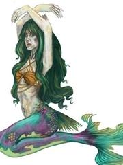 四款漂亮的美人鱼纹身图案手稿素材