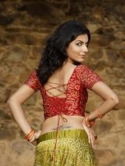 印度美女后腰图腾纹身