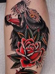 多款精美的古怪的动物纹身图案来自弗洛里安
