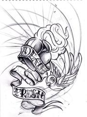 抽象创意图腾纹身图案