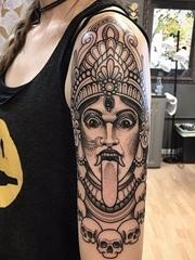 11款新传统印度教女神纹身图案