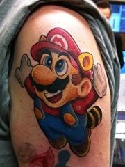 可爱马里奥纹身图案