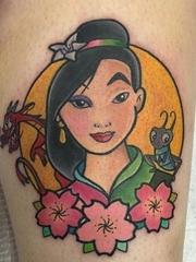 迪士尼卡通情侣头像纹身动漫人物的纹身图案