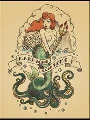 性感迷人美人鱼纹身图片