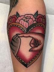 无与伦比的传统纹身小黑猫纹身图案