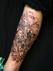 猴王的沉思,小腿斗戰勝佛個性紋身圖案