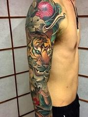 15款新传统花臂纹身动物和人物肖像纹身图案