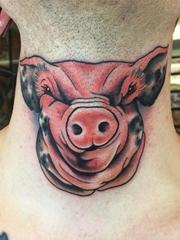 彩色的中国传统纹身动物和鬼怪纹身图案