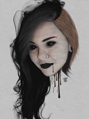 15款恐怖的彩色纹身水墨画人物肖像邪恶纹身手稿