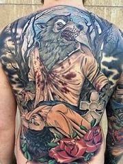 24款男性霸气的满背大面积纹身图案欣赏
