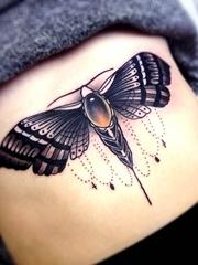 11款漂亮的飞蛾纹身蝴蝶纹身动物图案纹身