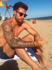 22款黑灰色的欧美满臂纹身时尚花臂纹身图案