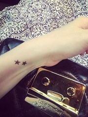 女神纹身小清新创意情侣纹身闺蜜纹身五角星图案