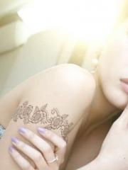性感美女蕾丝手臂纹身图案