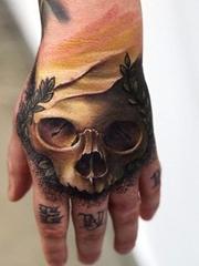 彩色的超现实主义人物肖像纹身动物肖像纹身图案