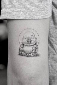 手臂弥勒佛纹身图案