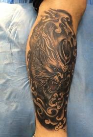 美猴王的怒吼斗战胜佛小腿纹身图案