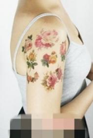 11款适合女生的画风唯美抽象线条纹身图案大全