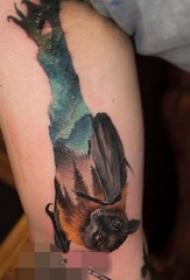一组灵动可爱的蝙蝠纹身小动物纹身图案大全
