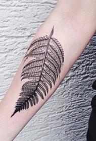 12款和秋天有关的小叶子纹身图案