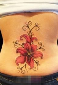 一组关于花朵文艺小清新唯美纹身图案