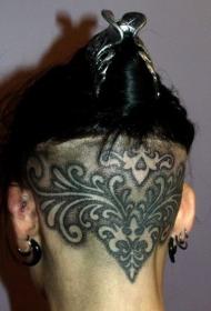 后脑个性的图腾纹身图案
