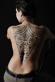 多款关于霸气的黑色几何线条部落图腾纹身图案