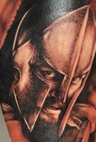 多款创意的霸气斯巴达战士纹身图案