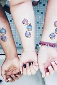 多款与本身所爱之人的简单线条同款婚配纹身图案