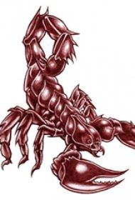 彩绘水彩素描创意霸气蝎子纹身手稿