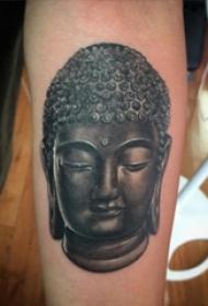 一念成佛的创意精细寓意实足的设计感纹身图案