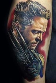 多款关于帅气的X战警系列人物肖像纹身图案