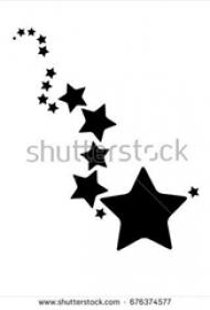 黑色素描文艺小清新精美星星纹身手稿