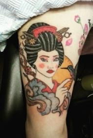 多款创意精美别致的日本经典艺妓纹身图案