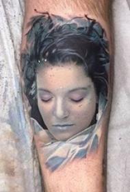 欧美肖像纹身男生手臂上欧美肖像纹身图片