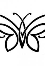 黑色线条素描文艺小清新唯美蝴蝶纹身手稿
