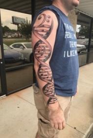 创意音乐DNA纹身图片