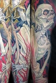 多款彩绘水彩素描创意经典霸气花臂纹身图案