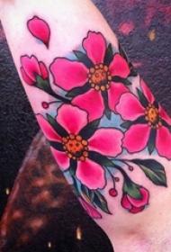 多款彩绘水彩素描文艺唯美樱花纹身图案