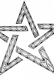 黑色线条素描创意文艺小清新精美星星纹身手稿