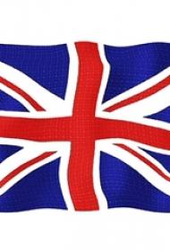 彩绘水彩素描文艺唯美经典英国旗纹身手稿