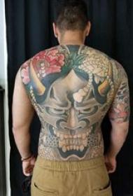 般若滿背紋身 男生后背大面積般若紋身圖片
