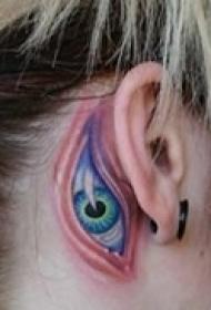 抽象艺术眼睛纹身