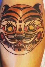 老虎图腾纹身 男生手臂上老虎图腾纹身图片