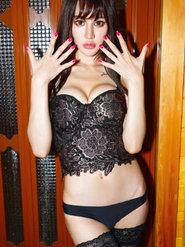 寫真女神Cheryl青樹黑色美腿絲襪高跟誘惑