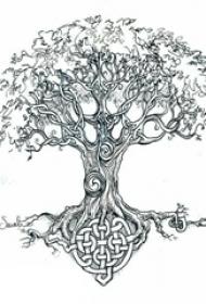 树纹身 简单线条纹身生命树纹身手稿