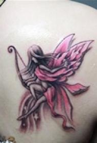 优美心爱天使图案纹身