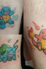 神奇宝贝纹身 男生小腿上可爱的神奇宝贝纹身图片