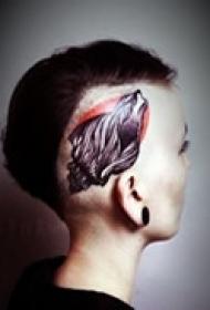 个性头侧精美纹身